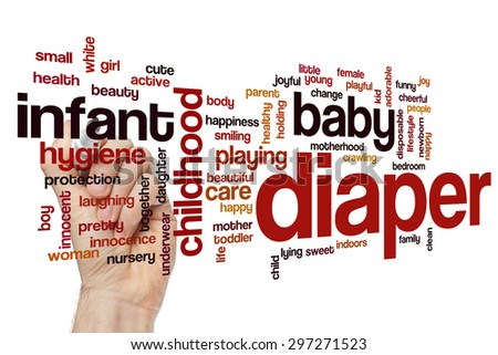 Diaper word cloud - stock photo