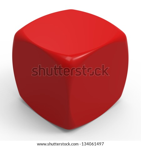 Dice - Blank template - stock photo