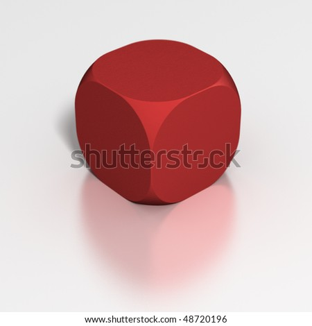 Dice: Blank template (fill in your own) - stock photo