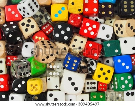 Dice collection, can be used as a background - stock photo