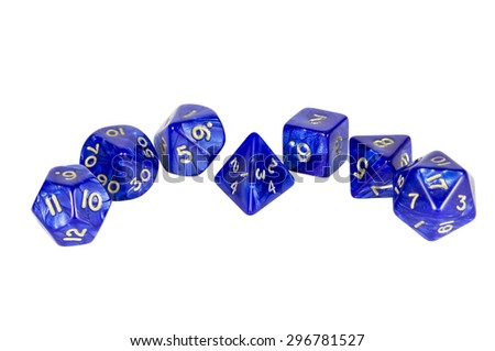 Dice composition without shadows - stock photo