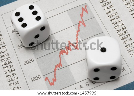 Dice on Chart - stock photo