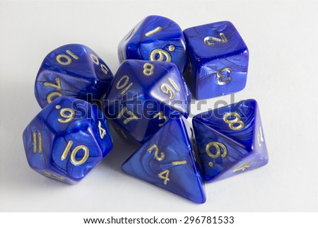 Dice set with shadows - stock photo