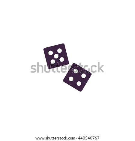 Dice. Simple blue icon on white background - stock photo