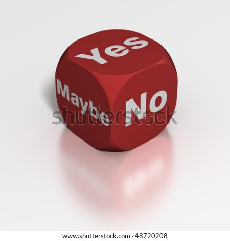 Dice: Yes, No or Maybe - stock photo