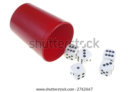 dices on a white background - stock photo