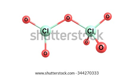 Dichlorine heptoxide or Perchloric anhydride is the chemical compound with the formula Cl2O7 - stock photo