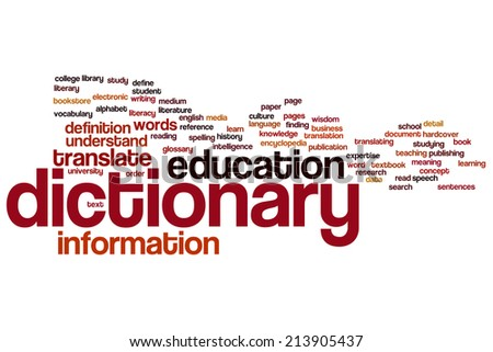 Dictionary concept word cloud background - stock photo