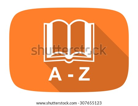 dictionary flat design modern icon with long shadow for web and mobile app  - stock photo