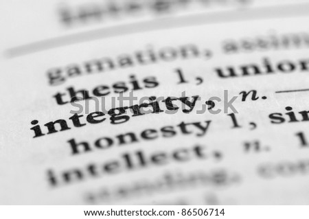 Dictionary Series - Integrity - stock photo