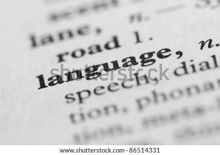 Dictionary Series - Language - stock photo