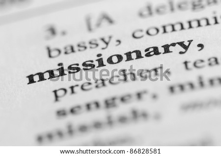Dictionary Series - Missionary - stock photo