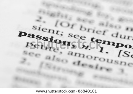 Dictionary Series - Passion - stock photo