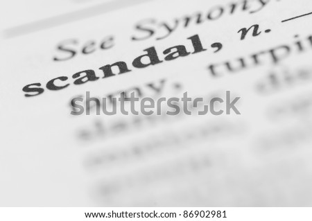 Dictionary Series - Scandal - stock photo