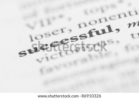 Dictionary Series - Successful - stock photo