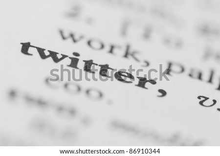 Dictionary Series - Twitter - stock photo