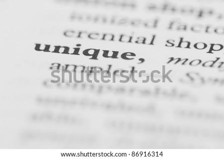Dictionary Series - Unique - stock photo
