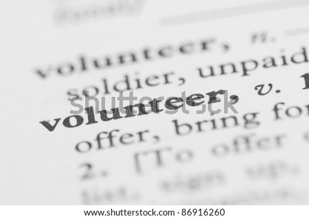 Dictionary Series - Volunteer - stock photo