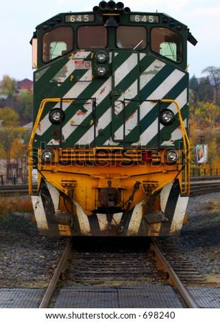 diesel engine approaching, transportation - stock photo