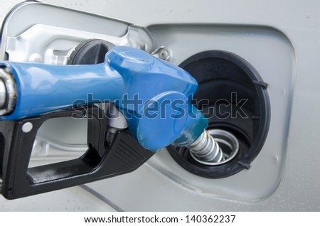 Diesel Fuel is a fuel for diesel engines.  - stock photo