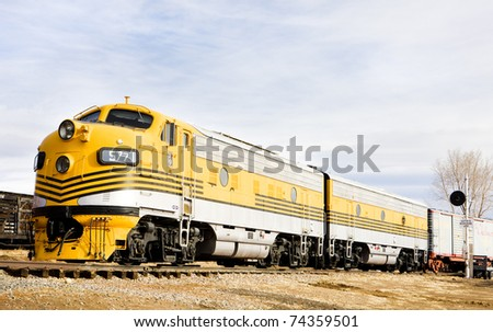 diesel locomotive, Colorado Railroad Museum, USA - stock photo