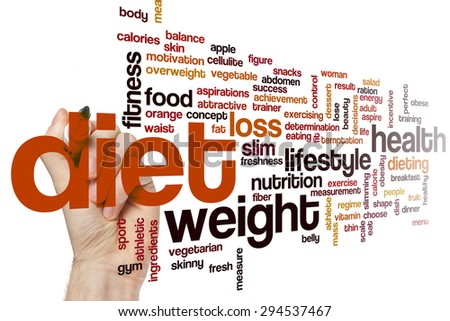 Diet concept word cloud background - stock photo