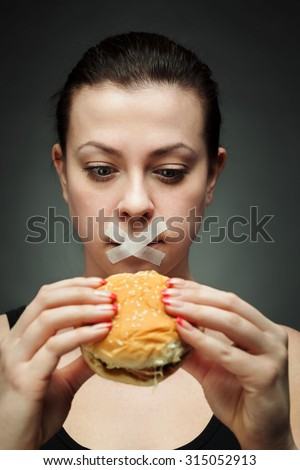 diet for girl - stock photo