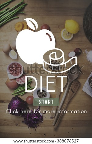 Diet Health Eating Nutrition Measure Concept - stock photo