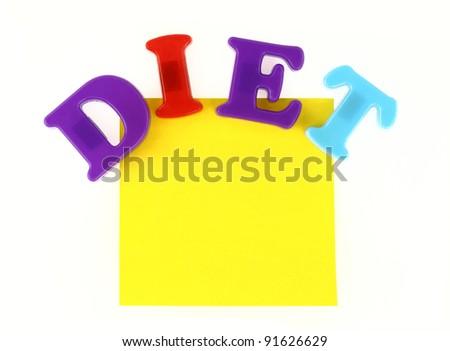 Diet note - stock photo