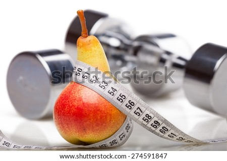 Dieting, Healthy Eating, Exercising. - stock photo