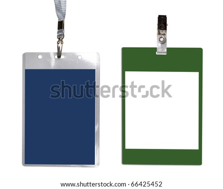 Diferent name badges isolated on a white background - stock photo