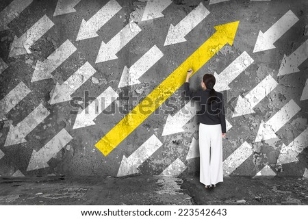 Difference thinking concept - stock photo