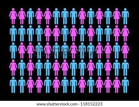 Differences between men and women - stock photo