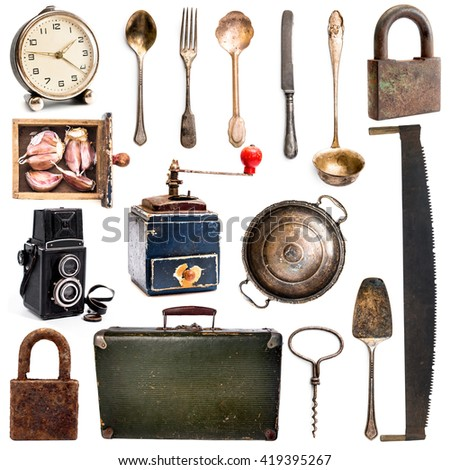 different antiques Home Appliances  - stock photo