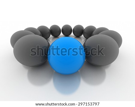 Different blue ball - stock photo