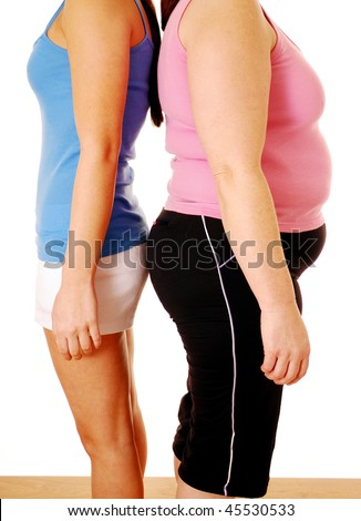 Different body shapes isolated over white - stock photo