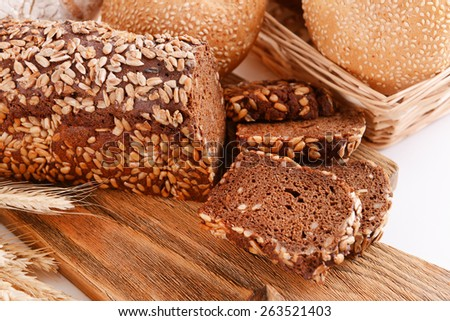Different bread close-up - stock photo