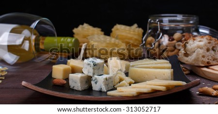 different cheese - stock photo