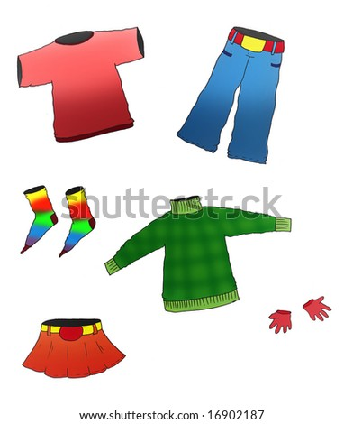 different clothes - stock photo
