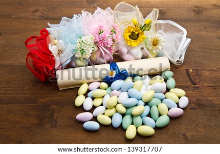 different colored candy favor - stock photo