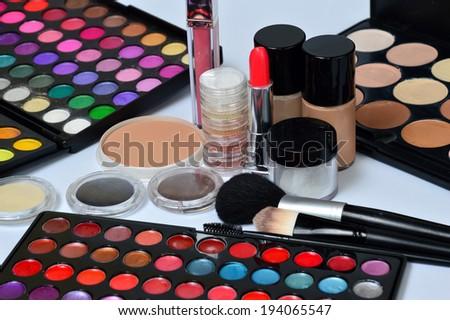 different cosmetics - stock photo