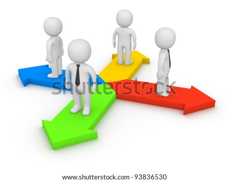 Different directions - stock photo