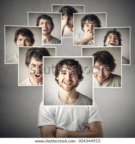 Different expressions - stock photo