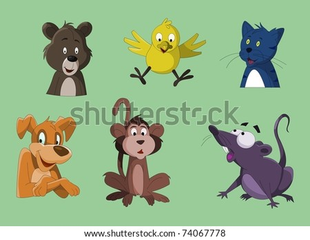 Different kind of Animals - stock photo
