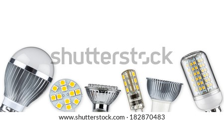 different led light bulbs  - stock photo