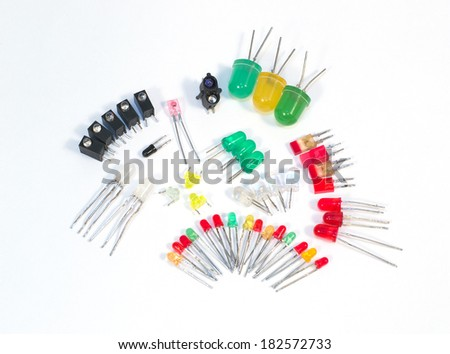 Different LEDs - stock photo