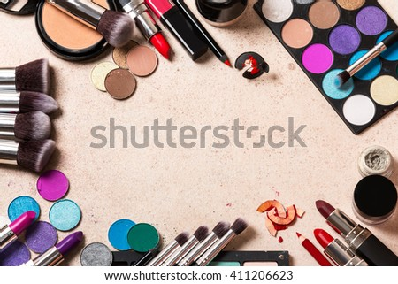 Different makeup products  - stock photo