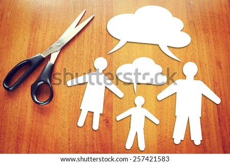 Different mindset. Concept of conflict between generations - stock photo