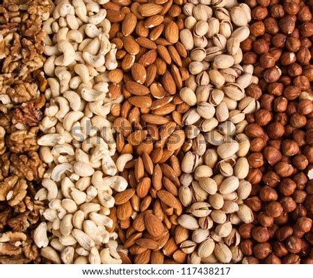 different nuts - stock photo