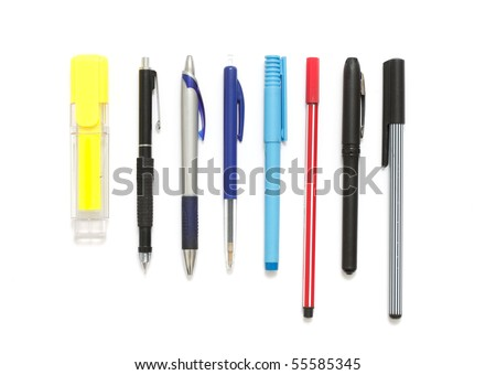 Different pens - stock photo